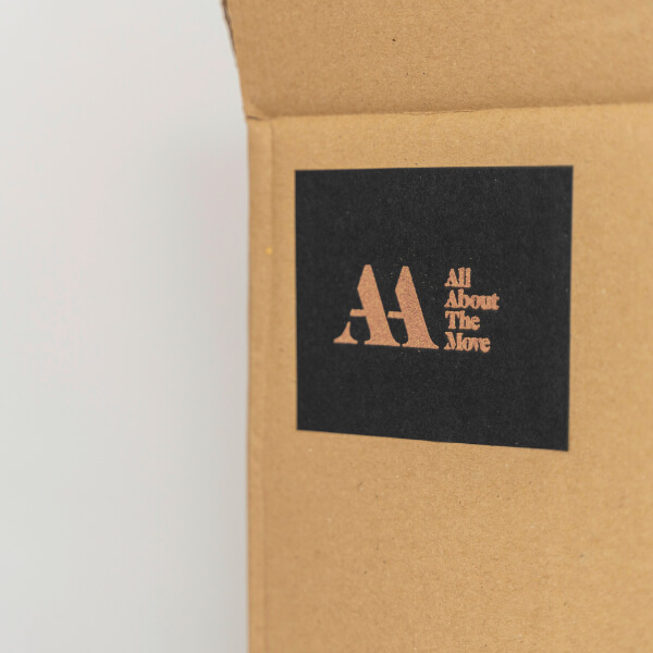 All about the move branded box